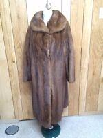 Ladies brown mink coat size 18 for sale
