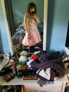 Size 18 Pink and silver prom dress