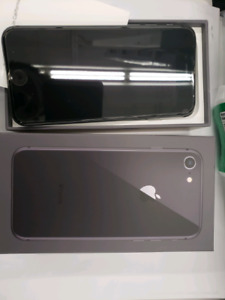 iPhone 8 black 64gb Unlocked Brand New - NEVER USED