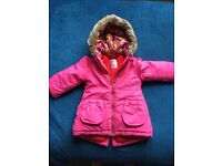 Girls coat 9-12 months