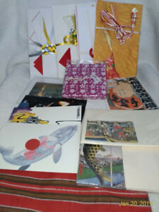 Japanese,decorated envelopes,decorated cloth,pouch,letter sets