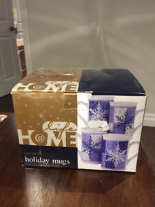 Set of 4 Holiday mugs