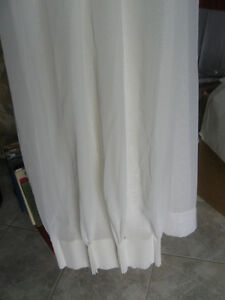 ONE PR. WHITE SUPER-SHEER PINCH-PLEATED WINDOW DRESSINGS