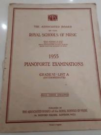 Vintage royal schools of music 1955 pianoforte examinations