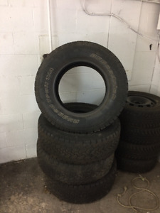 4 USEABLE LT 265/70/R17 TIRES