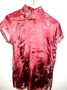 CHINESE PRINT SILK TOP