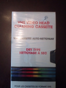 Unopened like new  head cleaner vcr vhs
