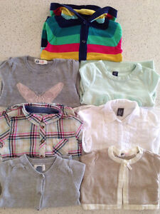 Shirts, cardigans, sweaters, size 2-4Y
