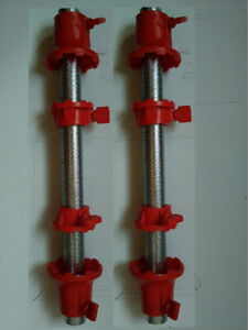 2 barres à disques avec arrêts/ 2 bars for barbell with stoppers