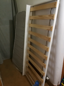 Single roll under guest bed and mattress