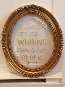 Sold PPU- Gold Vintage Frame/ Wedding Sign