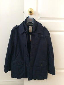 Boys Brand New with tags  navy blue Coat, size 10/12