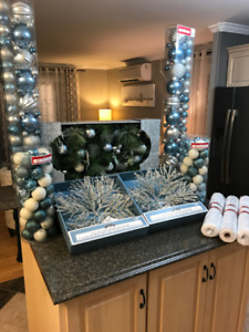 BRAND NEW CHRISTMAS DECORATIONS SILVER AND BLUE!!!