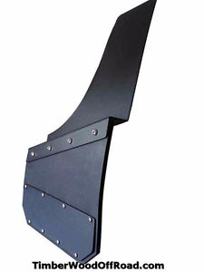 Universal Black Mud Flaps- powder coated  marine aluminum