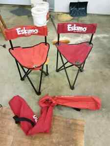 Fold out Eskimo fishing chairs