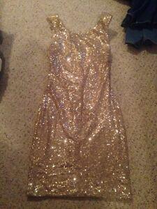 Gold sequin dress Windsor Region Ontario image 1