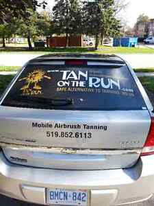 Mobile spray tanning in London with Tan On The Run