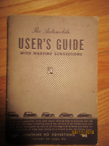 1941 1942  GM Automobile User's Guide Chev Pontiac Cadillac Olds