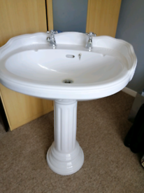 Bathroom sink with shell pattern £20