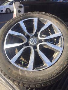 4 pneus d hiver avec Mag pour jetta 2013