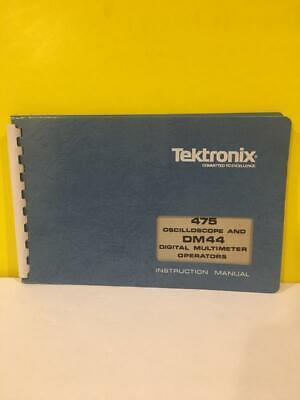 Tektronix 070-2039-00 475 Oscilloscope Dm44 Multimeter Operator Instr. Manual