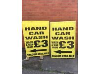 Hand car wash sign for sale