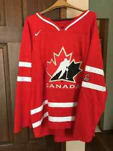 Team Canada IIHF Hockey Jersey signed by 3 local NHL players