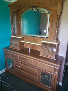 Beautiful dresser and queen headboard