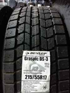 NEW 215/55/R17 DUNLOP GRASPIC WINTER SNOW TIRES