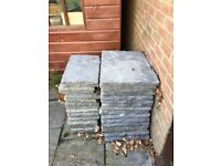 Grey paving slabs