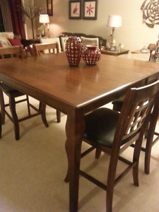 Beautiful solid wood pub style dinning table