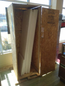 """palletized wood crate for free, 6ft tall, 25x25"""", pickup only"""