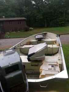 14 ft Aluminum boat, with trailer and Suzuki moter