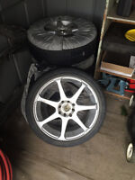 honda civic (4x) - 17in. tires and rims