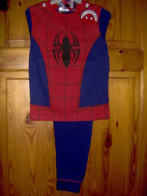 SPIDERMAN NOVELTY DRESS UP BOYS PYJAMAS  - WITH DETATCHABLE HOOD AGES 2/3 -7/8YR