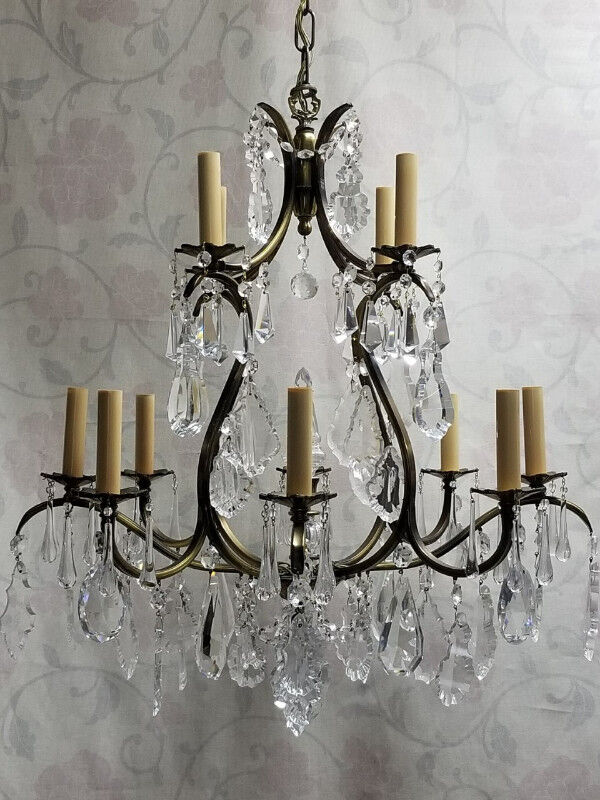 GORGEOUS 2-Tier 12-Light Crystal Chandelier – A MUST SEE!!   Indoor ...