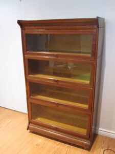 antique lawyers barrister bookcase 4 glass levels