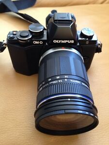 Olympus 0M–D E- M10 with 14 to 150 mm zoom lens