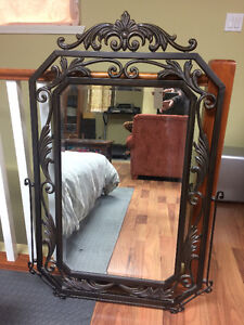 Wrought Iron Bevelled Glass Mirror