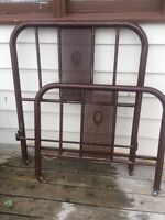 Twin sized metal bed