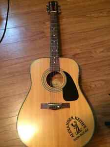 Alexander Keith's Editio Fender Acoustic Guitar with Soft Cover