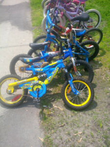 Childrens bikes,