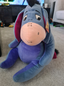 Large plush Eeyore toy