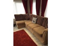 Large corner sofa & swivel chair