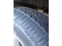 245 65 17 tyres 4x4 5mm+ tread. x2 tyres l200 navara 4x4 pick up