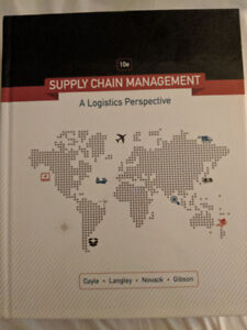 Supply Chain Management: A Logistics Perspective textbook