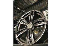 Set of 4 18 alloy wheels Alloys Rims tyre tyres 5x120 BMW vauxhall insignia