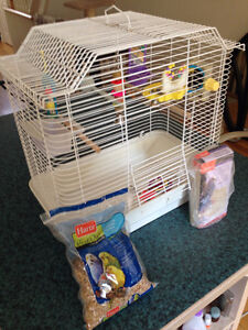 Medium size very clean bird cage with toys LIKE NEW!