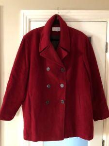 Manteau de laine Calvin Klein Taille Plus