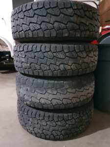 235/75R15 Hankook Dynapro on 6x5.5 Rims. Perfect for trailer.